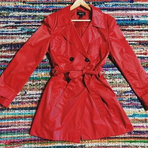 Style & Co Jackets & Coats - 🐺 Fire Engine Red Trench Coat 🐺